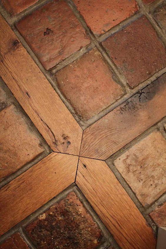Ladrillo de piso colonial madera durmientes mda for Pisos rusticos para cocina