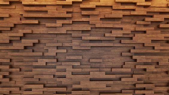 Muro madera listones mda - Muro de madera ...