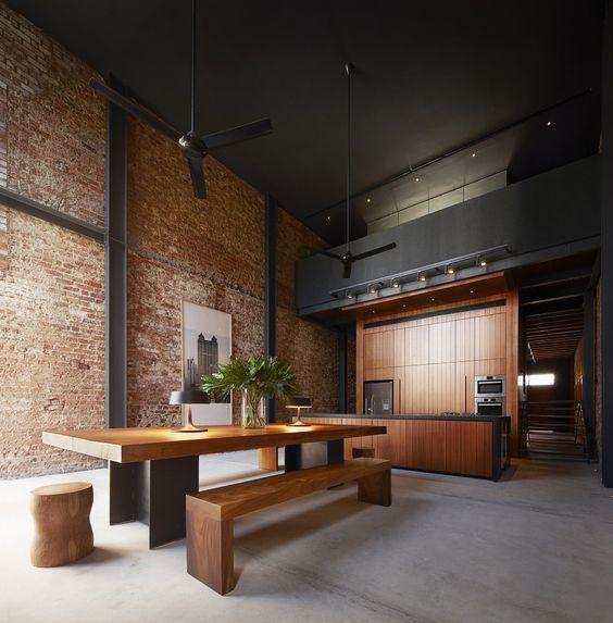 estilo-retro-vintage-industrial-madera-noble-moderna